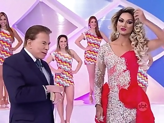 Drags in brazilian TV show shemale stockings crossdressing