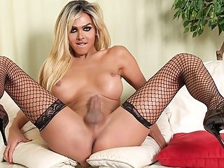 Stunning Jenna Tales Strokes her Cock - TGirlsXXX shemale shemale big ass shemale big tits