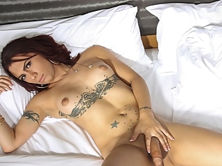Melody Mayheim Jacks Off - TGirlsXXX shemale shemale big ass shemale masturbation